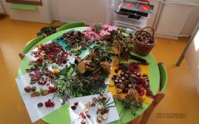 Výroba podzimníčků z přírodnin, 7.10.2020
